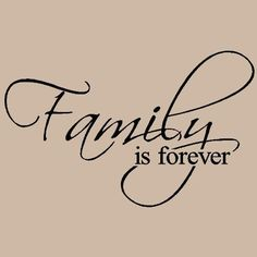 Family is forever Vinyl Lettering Wall Sayings. Vinyl Quotes, Wall Quotes, Me Quotes, Wall Sayings, Quotes Images, Family Is Everything, Love My Family, Great Quotes, Quotes To Live By