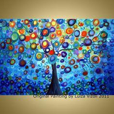Tree Landscape by LUIZAVIZOLI, $245.00