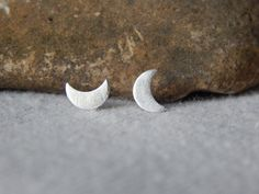 Tiny Moon Studs   23 Dainty Stud Earrings You Can Wear Everyday