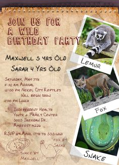 If Youre Having An Animal Themed Birthday Party Or A At The Zoo