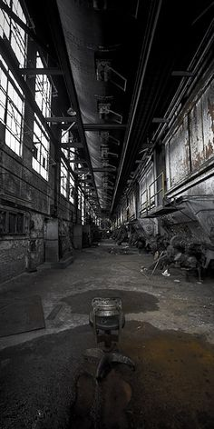 How cool is this? Abandoned warehouse.