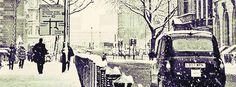 Click to get this snowy city facebook cover photo