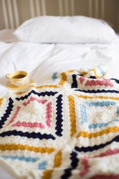 """This pack contains all of the yarn required for the beautiful Cedar River Blanket – Small Throw which, when completed, is approximately 110cm x 110cm (43½"""" x 43½""""). The pattern for Cedar River was designed for Deramores by the hugely talented Kat Goldin and was our very first CAL. It is now available as a free digital download: Cedar River Blanket by Kat Goldin - Digital Version The blanket is made up of 16 identical corner-to-corner crocheted squares which are arranged to form the diamond…"""