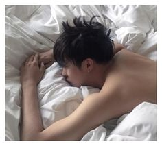 """""""K.J Hyung doesn't want to get up. ~Sam"""" by a-t-o-m-i-c ❤ liked on Polyvore featuring art"""