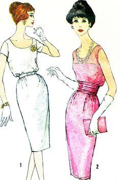 1950s Dress Pattern Simplicity 2963 Blouson Bodice by paneenjerez, $14.00