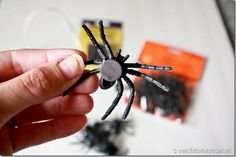 Magnetic Spiders are fun and spooky decorations for Halloween.