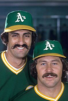 Rollie and Catfish. .The heart of the A's pitching staff from their dynasty of the early 70's