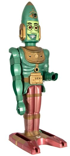 Marx Big Loo Moon Robot - my brothers had one of these back in the sixties. It stood 37 inches tall. One in good condition is worth a bundle now!
