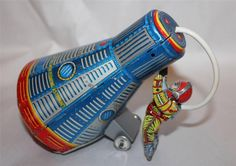 Kanto Space Capsule  Friction Tin Toy from 60s  ebay