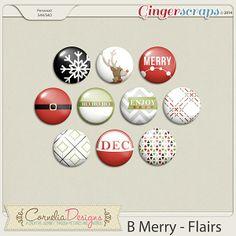 B Merry - Flairs by Cornelia Designs