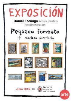 Cartel publicitario para exposición julio 2015 La Barra