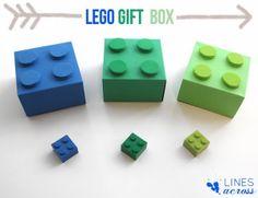 LEGO gift box templates