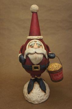 Santa - Reindeer Feed  - Chicken Lips Folk Art