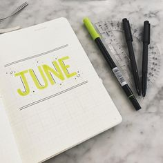 "23 Likes, 1 Comments - Bullet Journal Ideas (@bulletjournalbyisabel) on Instagram: ""June Monthly Page ----------------------------------------------------------- #bulletjournal…"""
