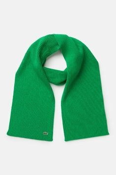 Men's Green Croc Wool Scarf