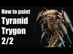 How to paint a Tyranid Trygon? Warhammer 40k Airbrush tutorial 2/2 - YouTube