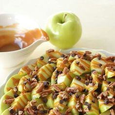 Apple Nachos  4 of your favorite Davison eating apples 1/4 cup of lemon juice 1/4 cup of caramel 2 Tablespoons of cream 1/4 cup of mini chocolate chips 1/4 cup of chopped pecans  Fill a medium sized bowl with water and stir in the lemon juice. Cut up apples and soak them in the lemon water for a few minutes, make sure all the apple slices get wet as this will keep them from browning. Remove them from the water and arrange them in a nice way on a serving plate.  Place the caramel in a small…