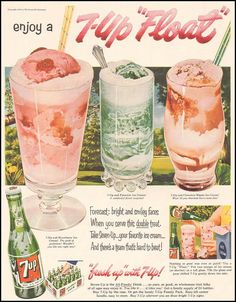 7-Up floats - mid 1960s