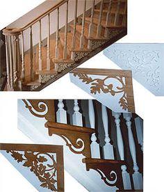Wood Scroll Stair Bracket 7029 Brackets Treads Skogar Och Trappor