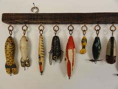 Lost Found Art - Antique Fish Decoy Display Vintage Fishing Lures, Lake Decor, Installation Art, Art Installations, Found Art, Fish Art, Types Of Fish, Shadow Box, At Least