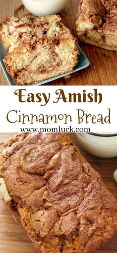 Delicious Moist Sweet Dessert Easy Amish Cinnamon Bread Recipe and Amish Cinnamon Bread Print Out. Super Easy to Make. No kneading involved you just mix and pour into a loaf pan. Quick Bread Recipes, Bread Machine Recipes, Baking Recipes, Recipe For Bread, Cinnamon Recipes, Amish Sweet Bread Recipe, Breakfast Bread Recipes, Starter Recipes, Cinnabon Bread Recipe