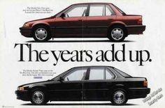 Honda Civic & Accord Photos the Years Add Up (1991)