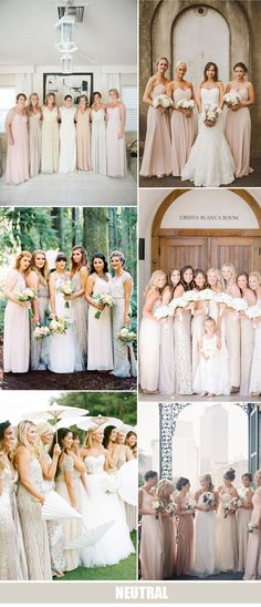 neutral color trends for bridesmaid dresses 2016