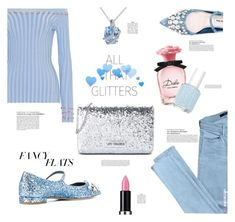 Fancy Flats 🔹All That Glitters by ultracake on Polyvore featuring Altuzarra, J Brand, Miu Miu, Love Moschino, Miadora, MAKE UP FOR EVER, Dolce&Gabbana, Essie, ultracake and fancyflats