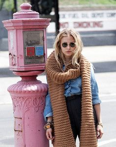 Huge Wool And The Gang scarf--never mind the scarf; love the post