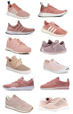 best sneakers dacb4 f0c81 Millennial Pink Sneakers and Blush Tennis Shoes