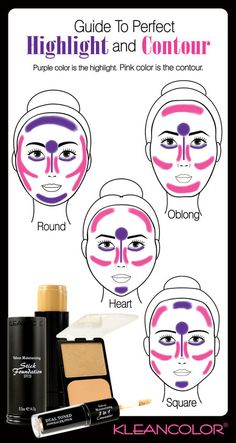 How To Highlight & Contour by Face Type! #beauty #tips #makeupideas