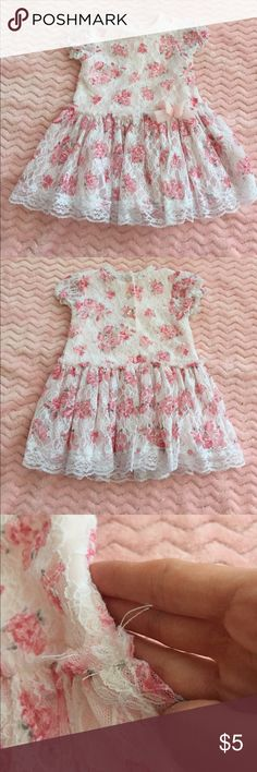 Little me dress Super cute dress. Has a few pulls on the right and left waist area (see pics) otherwise it's in great shape! Size 9 Months Little Me Dresses
