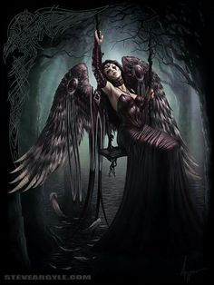 Sad Angel number - Artists Corner - Outstanding Digital Art By Steve Argyle Dark Angels, Angels And Demons, Fallen Angels, Dark Fantasy Art, Fantasy Kunst, Fantasy Demon, Gothic Angel, Gothic Art, Dark Gothic