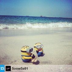 #Minions on the #Beach