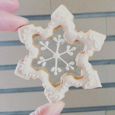 Snowflake stained glass cookie. #StainedGlassCookies