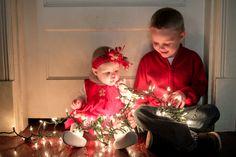 Christmas Session, Christmas Lights  Melissa Conn Photography