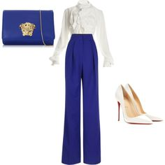 Designer Clothes, Shoes & Bags for Women Roksanda, Vivienne Westwood, Versace, Polyvore Fashion, Christian Louboutin, Prince, Shoe Bag, Pants, Stuff To Buy