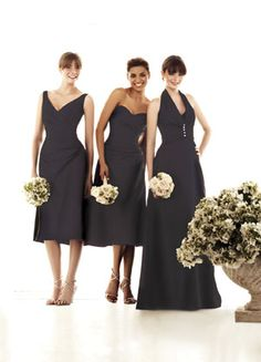 Impression Bridesmaids: 1590  i like the 2 on the left, just wonder if they come in long. Cute Bridesmaid Dresses, Wedding Bridesmaids, Bridal Dresses, Wedding Gowns, Camo Wedding, Bridal Stores, Play Dress, Fashion Dresses, Sassy