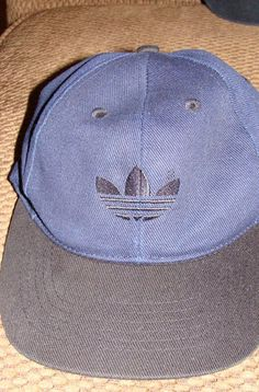 Adidas Blue/black basball cap hat one size fits all adjustable adjustable NWOT