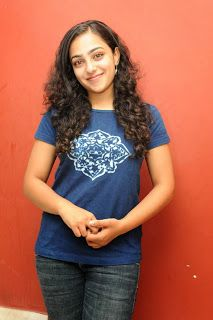 Nithya Menon in Chest Print T-Shirt and Denim Jeans Spicy Pics ~ Bollywood Gallery South Indian Actress Gallery