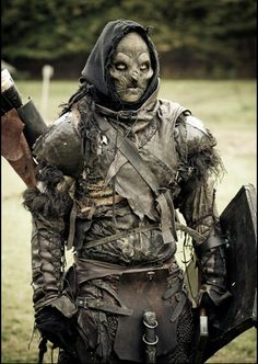 Orc archer. Larp costume of awesomeness.