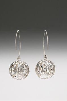 Mahtab Hanna - Sensory Earrings Silver US$1,240 Silver, radium plated and diamonds/ rubies