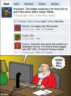 Santa cartoon - funny!