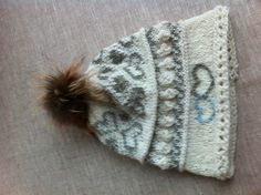Fairisle Hat with fur pompon
