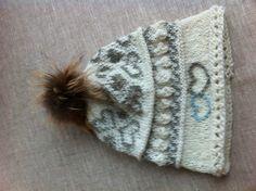 Fairisle Hat with fur pompon