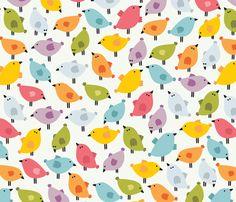 Birds birds. fabric by panova on Spoonflower - custom fabric
