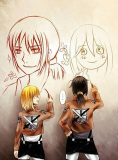 Attack on Titan (SnK) - Ymir and Krista Lenz - YumiKuri Ereri, Attack On Titan Ships, Attack On Titan Anime, Ymir And Christa, Fnaf, My Little Pony, Akuma No Riddle, Historia Reiss, Yuri Anime