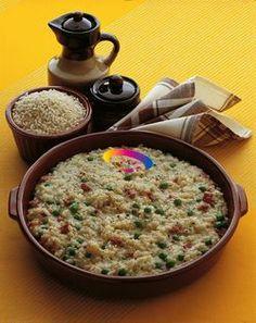 Riso con piselli e salsiccia  #ricette   #cucinaremeglio via @cucinaremeglio