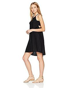 4863507a85 Volcom Womens Standard Soul Window High Necked Strappy Dress  Amazon.ca   Clothing