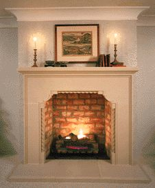 "The BRENTWOOD fireplace mantel:  Available in 42"" firebox only.  Overall:  69"" wide 57"" tall.    Optional overmantels are available."